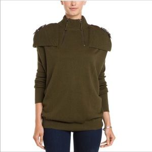 L.a.m.b. Green long sleeve oversized sweater XS
